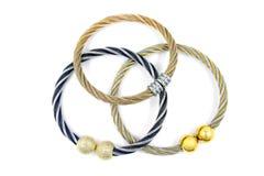 Красивые браслеты дам, нержавеющая сталь Стоковое Фото