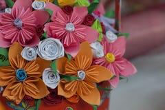 Красивые бумажные цветки Стоковые Фотографии RF