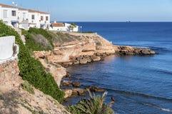 Красивые виды утесов и побережья среднеземноморского стоковое изображение rf