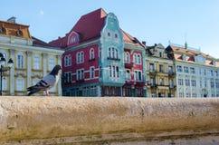 Красивые винтажные здания в старом городке Стоковая Фотография