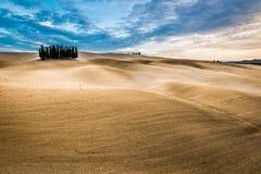 Красивые виды ландшафта осени в Тоскане Стоковые Фотографии RF