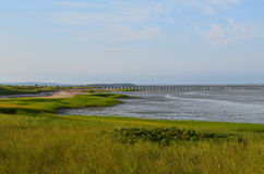 Красивые виды моста пункта порошка и залива Duxbury Стоковые Изображения