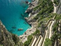 Красивые виды побережья Амальфи Стоковое фото RF