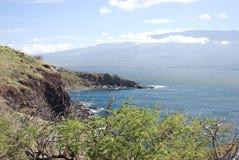 Красивые виды северного побережья Мауи, принятые от известной извилистой дороги к Гане Мауи, Гавайи Стоковая Фотография RF