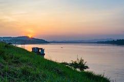 Красивые виды Chiang Khan в Loei, Стоковые Фото