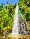 Красивые водопады Kaeng Nyui Ландшафт Лаоса Стоковое фото RF