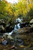 Красивые водопады Saluda в Северной Каролине стоковая фотография rf
