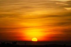 Красивые восход солнца и большой Стоковые Фотографии RF
