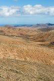 Красивые вулканические горы на Фуэртевентуре Стоковые Изображения