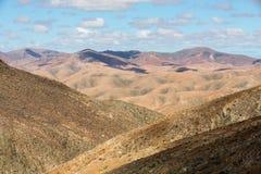 Красивые вулканические горы на Фуэртевентуре Стоковая Фотография RF