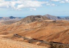 Красивые вулканические горы на Фуэртевентуре Стоковые Фотографии RF