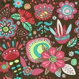 Красивые вычисляемые цветки и лепестки Различный цветков и siz Стоковые Фотографии RF