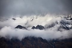 Красивые гималайские горы стоковые фотографии rf
