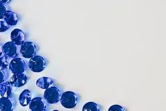 Красивые голубые диаманты Стоковое Изображение RF