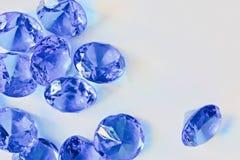 Красивые голубые диаманты Стоковая Фотография