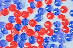 Красивые голубые и красные диаманты Стоковое фото RF