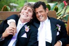 Красивые гомосексуалисты на день свадьбы Стоковая Фотография