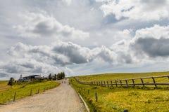Красивые гора ландшафта и дорога Utsukushigahara, Nagan Стоковая Фотография RF