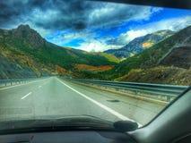 Красивые горные виды от Албании стоковая фотография