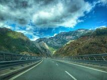 Красивые горные виды от Албании стоковое изображение rf