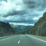 Красивые горные виды от Албании стоковые изображения rf