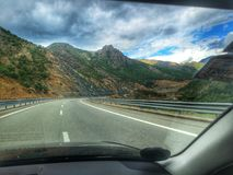Красивые горные виды от Албании стоковая фотография rf