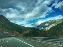 Красивые горные виды от Албании стоковое фото rf