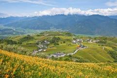 Красивые горы восточного Тайваня стоковые фотографии rf