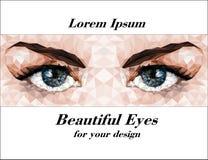Красивые глаза сделанные полигонов Стоковое Изображение