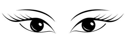 Красивые глаза ` s женщин Бесплатная Иллюстрация