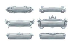 Красивые декоративные знамена названия металла Стоковые Изображения RF