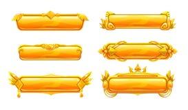 Красивые декоративные знамена названия металла Стоковое Изображение RF