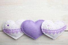 Красивые декоративные сердца Стоковое Изображение