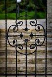 Красивые декоративные элементы металла выковали чугунные ворота стоковые изображения rf