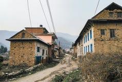 Красивые дома в деревне в отдаленной области Стоковые Изображения RF
