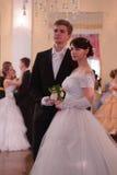 Красивые девушка и человек в старом платье Стоковые Изображения