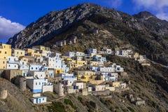 Красивые деревни Греции - Olimbos в Karpathos Стоковая Фотография