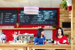 Красивые женщины обсуждая дело в расслабленной атмосфере Стоковое Изображение