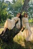 Красивые женщины ослабляют на природе Стоковые Фотографии RF