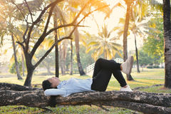Красивые женщины ослабляя в парке Стоковые Фото