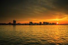 Красивые заходы солнца на острове Labuan Стоковые Фото