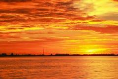 Красивые заходы солнца на острове Labuan Стоковое Фото