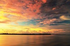 Красивые заходы солнца на острове Labuan Стоковые Изображения RF