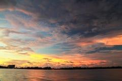 Красивые заходы солнца на острове Labuan Стоковые Фотографии RF