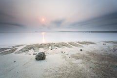 Красивые заход солнца и восход солнца стоковая фотография