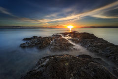 Красивые заход солнца и восход солнца стоковые фото
