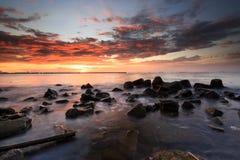 Красивые заход солнца и восход солнца стоковые изображения rf