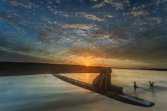 Красивые заход солнца и восход солнца стоковое изображение rf