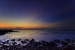 Красивые заход солнца и восход солнца стоковая фотография rf