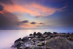 Красивые заход солнца и восход солнца стоковые изображения